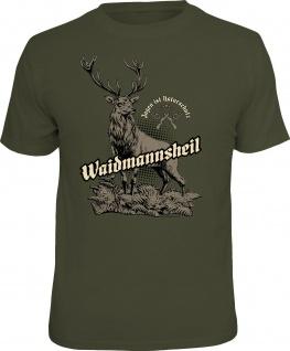 bedruckte Jäger T-Shirts - Waidmannsheil - lustige T-Shirts für Herren Geschenke