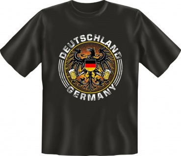 Deutschland T-Shirt Germany Geburtstag Geschenk Shirt geil bedruckt