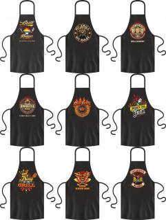 Grillschürze Grill Party Koch Bistro BBQ Schürze Kochschürze Geschenk bedruckt
