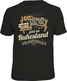 Geburtstag T-Shirt - 100% Premium Qualität im Ruhestand Fun Shirt Geschenk