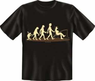 geil bedruckte Angel Fun T-Shirt Shirts - Evolution Angler - Geburtstag Geschenk