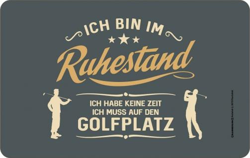 Frühstücksbrettchen - Im Ruhestand zum Golfplatz - Geburtstagsgeschenk