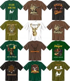 Jäger T-Shirt Jagd Wild Revier Shirt Geburtstag Geschenk Auswahl geil bedruckt