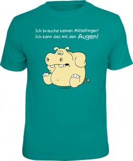 Fun T-Shirt Augen statt Mittelfinger Nilpferd Hippo Shirt Geschenk geil bedruckt