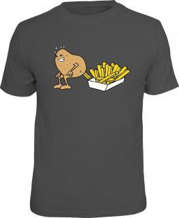 Fun T-Shirt Kartoffel macht Pommes Shirt 4 Heroes Geschenk geil bedruckt