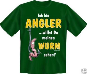 geil bedruckte Angel Fun T-Shirts T Shirt - Angler Wurm - Geburtstag Geschenk