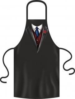 Grillschürze Anzug Krawatte Weste Grill Koch Schürze Geschenk geil bedruckt