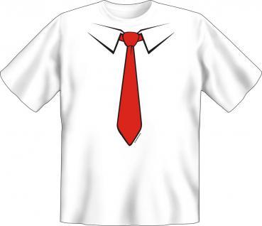T-Shirt - Krawatte rot
