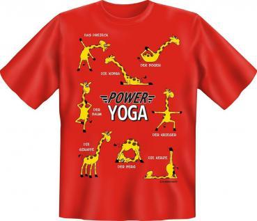 T-Shirt - Power Yoga Giraffe Sport Fitness Yoga Fun Shirt Geschenk geil bedruckt