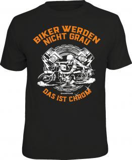 Geburtstag T-Shirt Biker werden nicht grau - Das ist Chrom Bike Shirt bedruckt