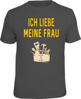 Herren Fun T-Shirt - Ich liebe meine Frau in der Werkstatt - Männer Geschenke