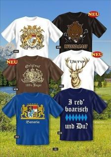 Fun Collection T-Shirt Bayern Bavaria Oktoberfest Wappen Shirt Geschenk bedruckt