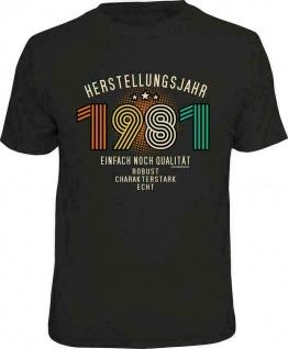 Geburtstag T-Shirt - 40 Jahre Herstellungsjahr 1981 - Sprüche T Shirt Geschenk
