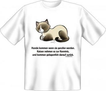 Fun T-Shirt - Katzen kommen zurück