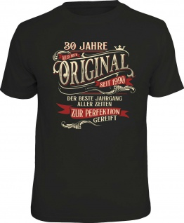 lustiges Geburtstag T-Shirt - 30 Jahre Original seit 1990 Herren Shirt Geschenk