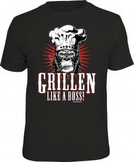 Herren T-Shirt bedruckt - Grillen like a Boss - lustige Geschenke für Männer