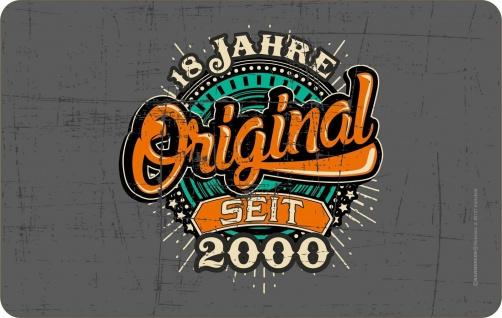 Frühstücksbrettchen - Original seit 2000 - Geburtstag Brettchen Geschenk Brett