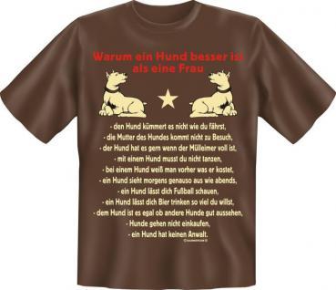 T-Shirt - Hund besser als Frau - Vorschau
