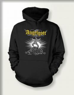 Angler Sweatshirt mit Kapuze mit Angel Motiv - Angelgott - geil bedruckt