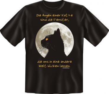 T-Shirt - Die Augen einer Katze