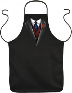 Männer Kochschürze Smoking Krawatte Weste Partyschürze lustige Grillschürze
