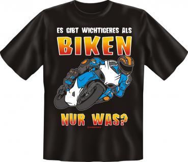 Biker T-Shirt - Wichtigeres als Biken - Vorschau