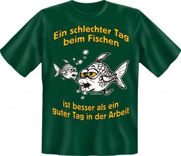 Angler T-Shirt - Schlechter Tag beim Fischen Angel Shirt - Vorschau
