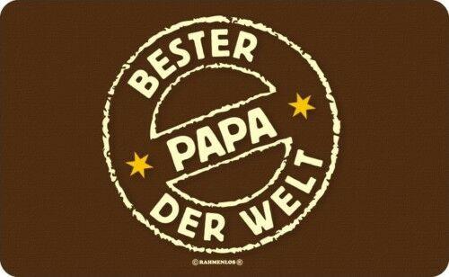 Frühstücksbrettchen Schneide Brettchen - Bester Papa der Welt - Geburtstag Brett