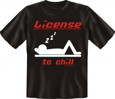 T-Shirt -License to chill - Vorschau