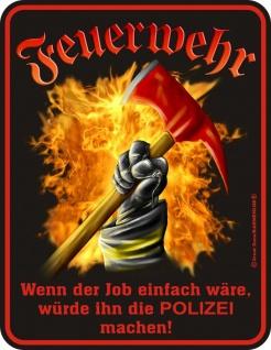 Fun Collection Blechschild Feuerwehr FFW 112 Schild Geschenk Auswahl bedruckt - Vorschau 5