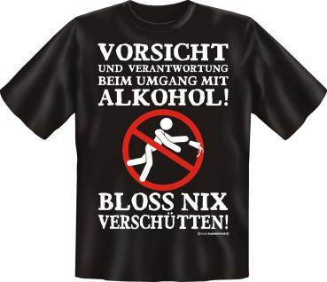 T-Shirt - Vorsicht mit Alkohol - Vorschau