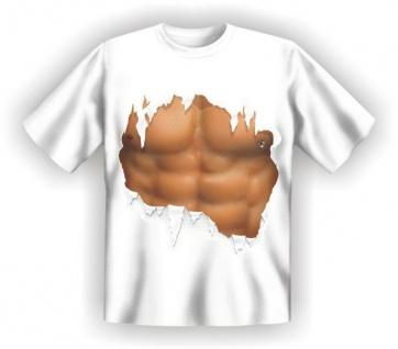T-Shirt - Waschbrett Sixpack Mann - Fun Shirts Geburtstag Geschenk geil bedruckt