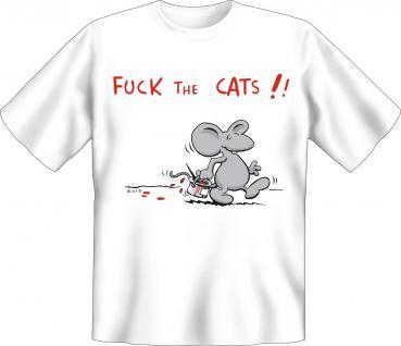 T-Shirt - Maus Fuck the Cats - Vorschau