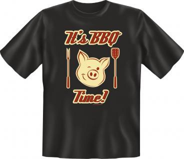 Griller Fun T-Shirt Its BBQ Time Geburtstag Geschenk Grill Shirt geil bedruckt
