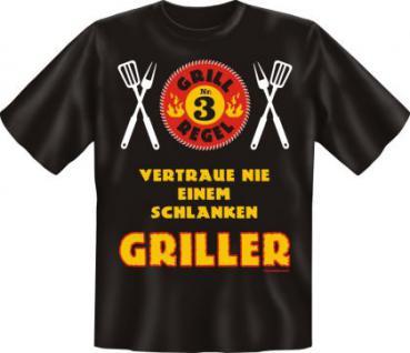 Grill T-Shirt - Grillregel 3 - Vorschau