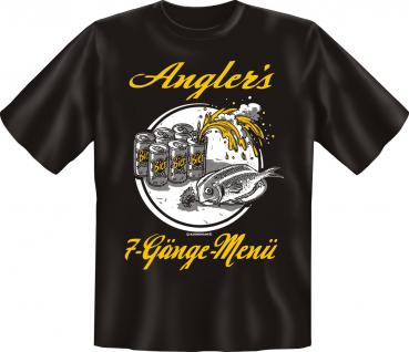 Angel T-Shirt - Angler's 7-Gänge-Menü - Vorschau