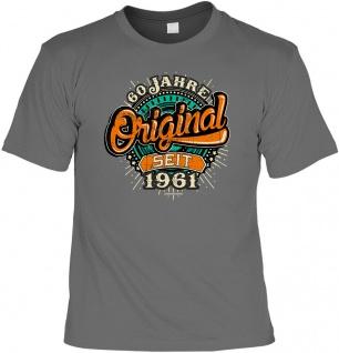 lustige Geburtstag T-Shirt - 60 Jahre Original seit 1961 - Fun Shirt Geschenk