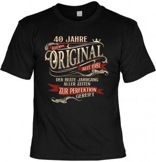 lustiges Geburtstag T-Shirt - 40 Jahre Original seit 1981 Herren Shirt Geschenk