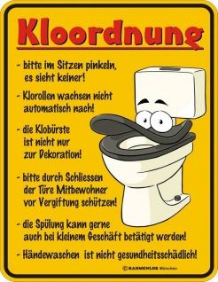 Humor Kühlschrankmagnet Kloordnung Kühlschrank Magnet Fun WC Schild Metall