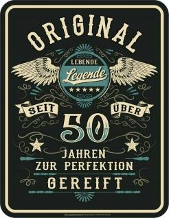 Geburtstag Sprüche Schild - Original seit über 50 Jahren - Geschenk Blechschild