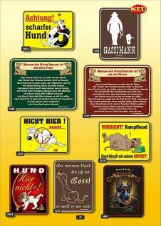 Fun Collection Hund Blechschild Hunde Schild Metall Geschenk Auswahl bedruckt