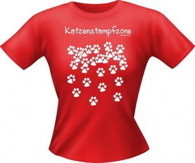 Girlie Shirt Katzenstampfzone Lady-Shirt Katze Geburtstag Geschenk T-Shirt