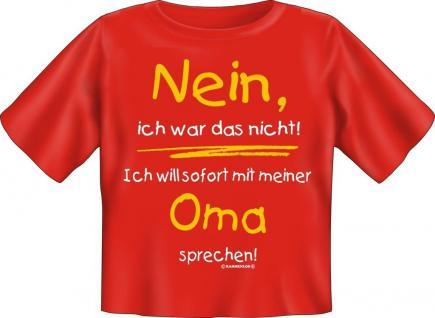 Baby Fun T-Shirt Babyshirt niedlich bedruckt - Nein , ich war das nicht - Oma
