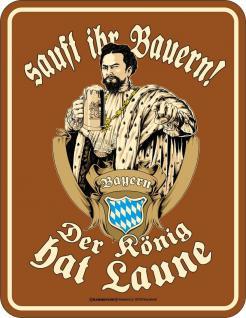 Bayern Blechschild Sauft Ihr Bauern Bier Fun Schild Alu geprägt geil bedruckt