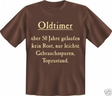 geil bedruckte Geburtstag Fun T-Shirts Shirt - Oldtimer 50 Topzustand - Geschenk