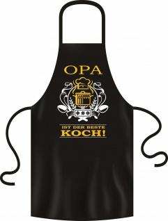 lustige Kochschürze Opa ist der beste Koch Geburtstag-Geschenk geil bedruckt