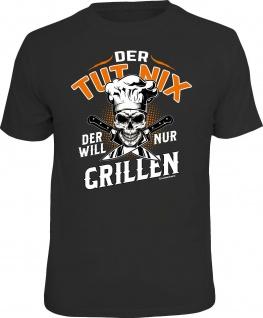 Herren T-Shirt bedruckt - Der will nur grillen - lustige Geschenke für Männer