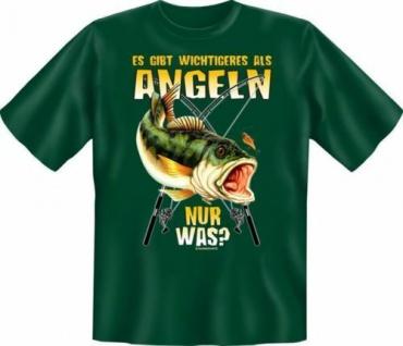 geil bedrucktes Angler T-Shirt Fun T-Shirts - Wichtigeres als Angeln - Geschenk