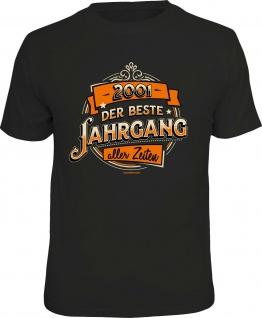 Geburtstag T-Shirt - 2001 - Der beste Jahrgang - Fun Shirt Geschenk bedruckt