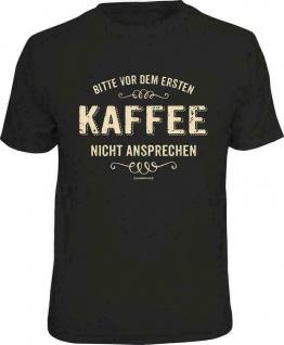 Herren T-Shirt - Nicht vor 1. Kaffee lustige Geschenke für Männer Sprüche Shirts